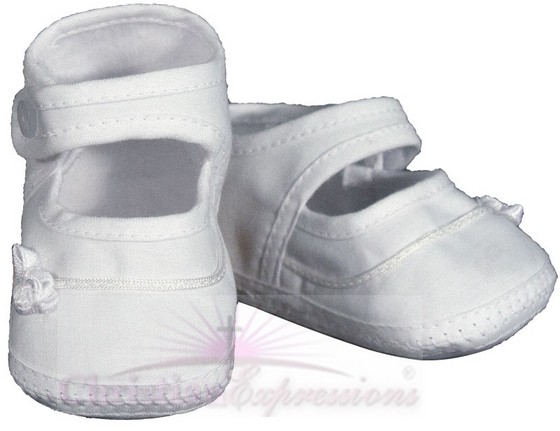 Girls Cotton Christening Shoes