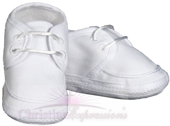 Boys Gabardine Christening Shoes