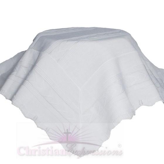 Knit Baby Baptism Shawl