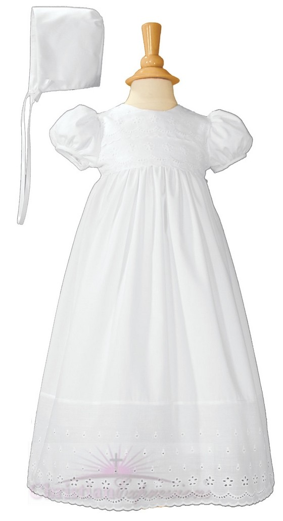 Cotton Eyelet Christening Gowns