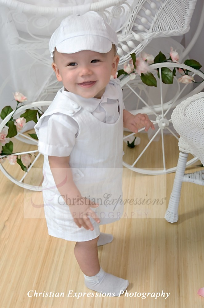 Boys Two Piece Cotton Christening Romper | Baptism Outfits Boys ...