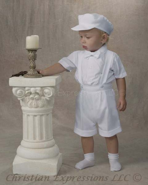 Boys Christening Romper Style Marcus
