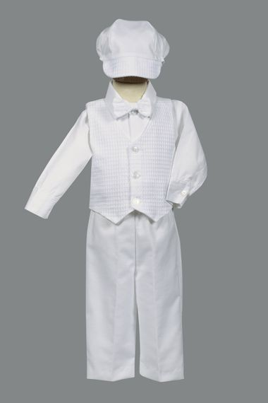 boys cotton weaved baptism outfit