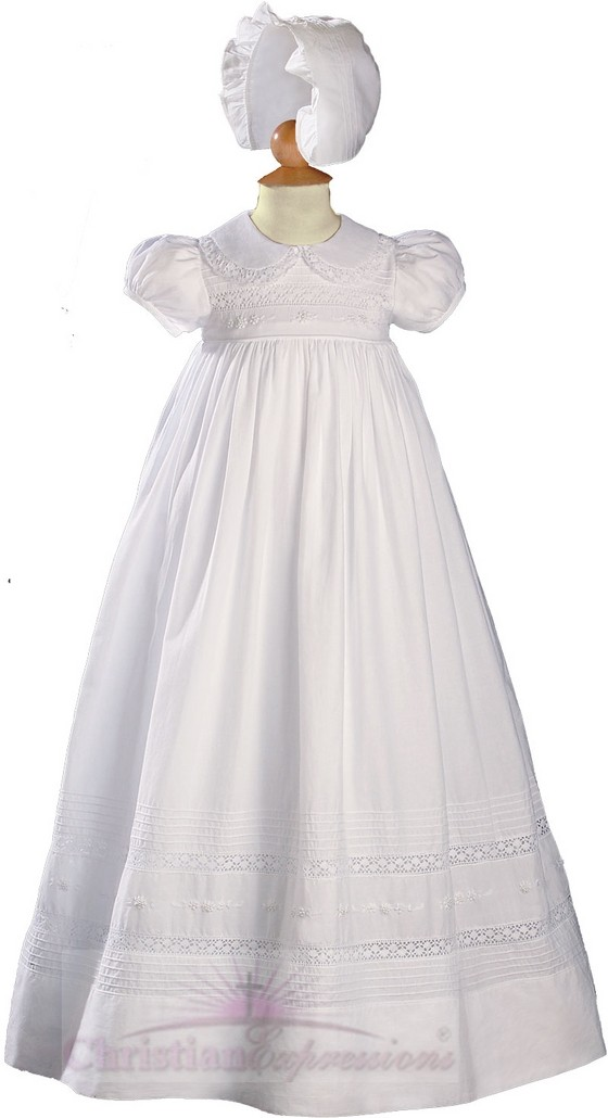 Christening Gowns with Peter Pan Collar