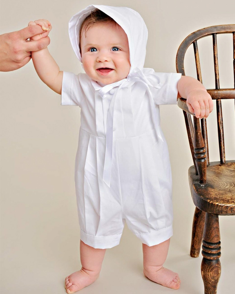 Boys Cotton Christening Baptism Outfit