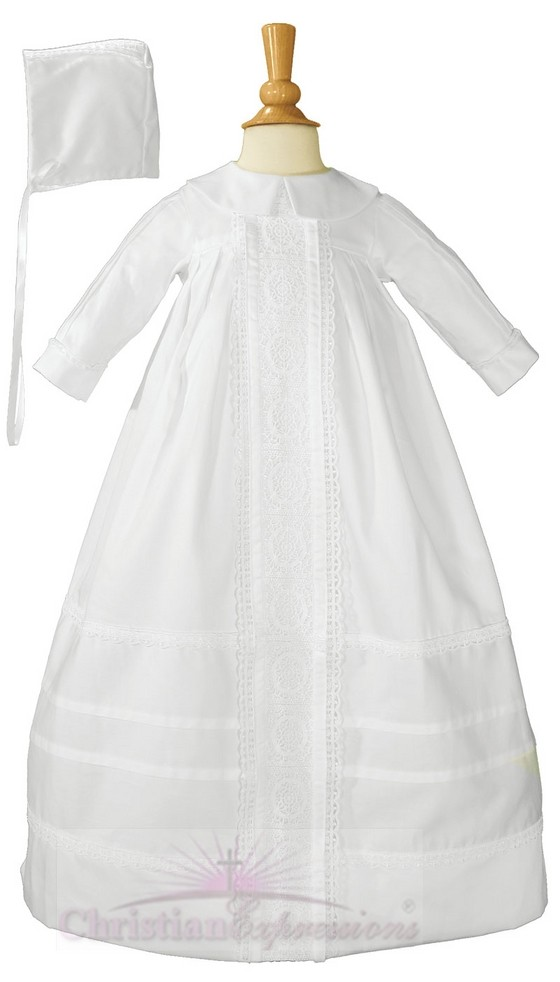 Boys Cotton Sateen Christening Gown
