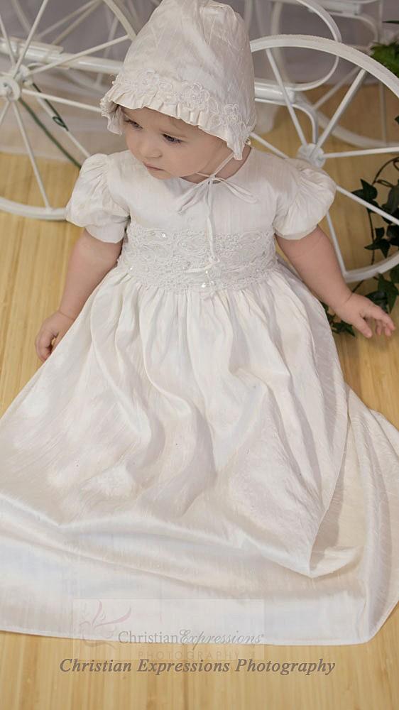 girls silk christening gown style isabel