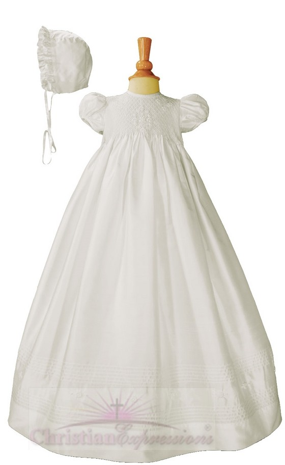 Designer Silk Christening Gowns for Baby Girls