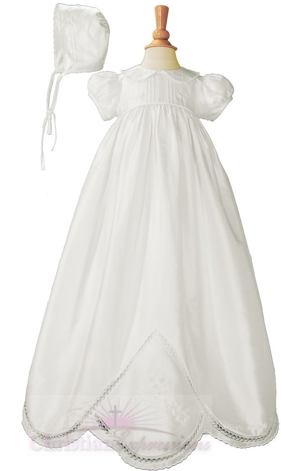 Girls Silk Dupioni Christening gowns