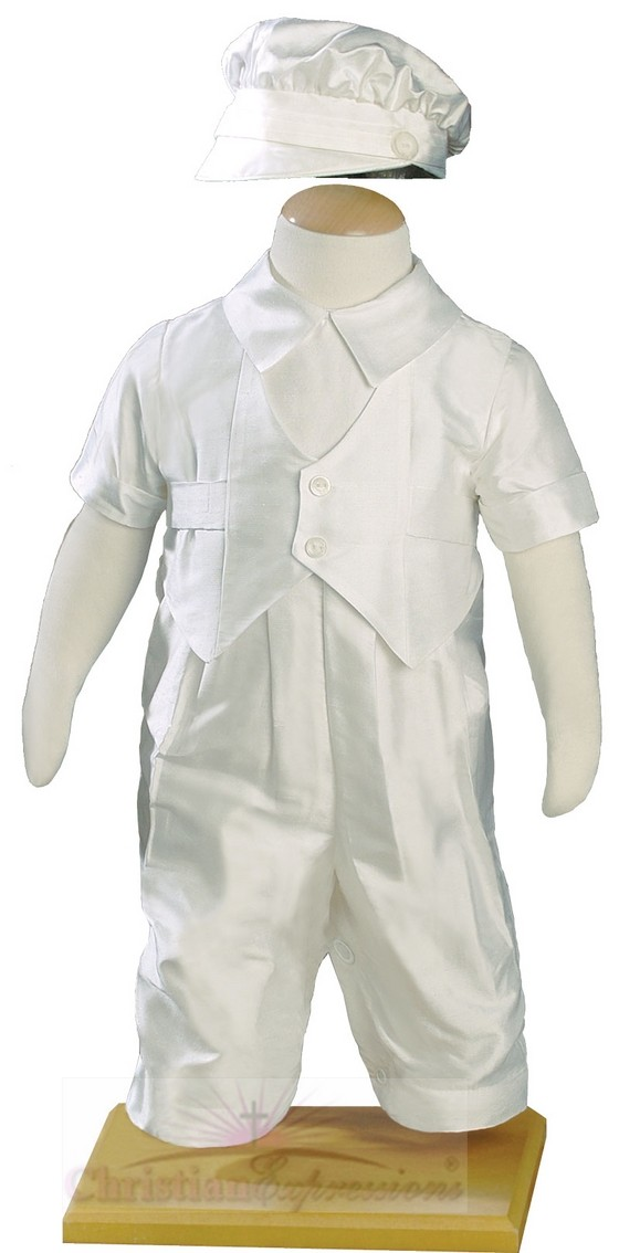 Silk Christening Suits for Boys