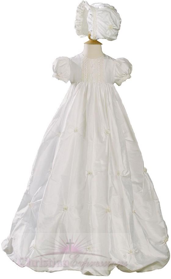 Girls Silk Dupioni Christening gown Style Charlotte