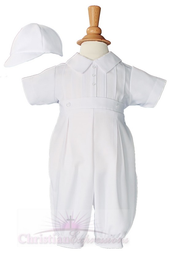 Boys Gabardine Christening Outfit Style Aiden