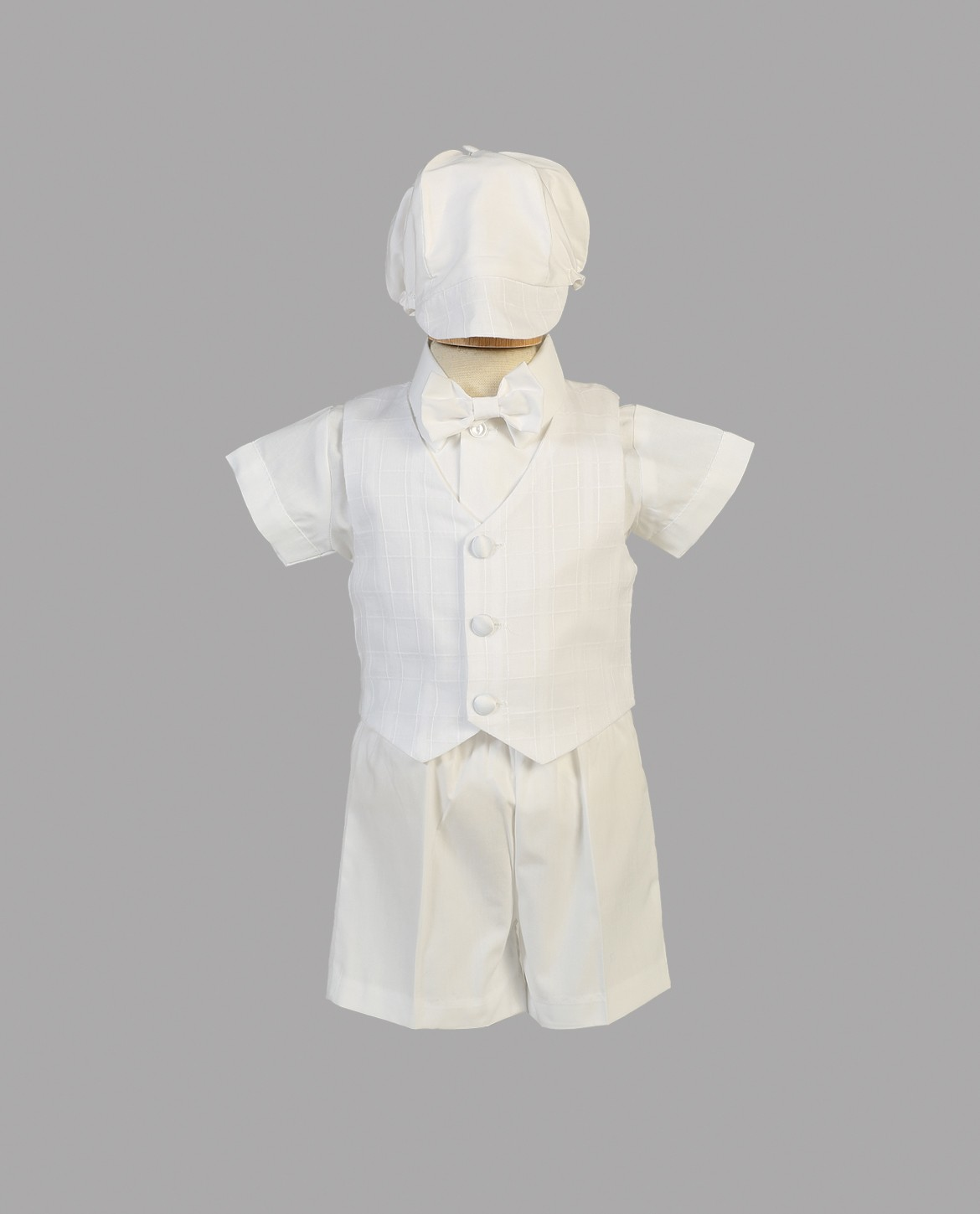 Boys Baptismal Shorts and Vest Set