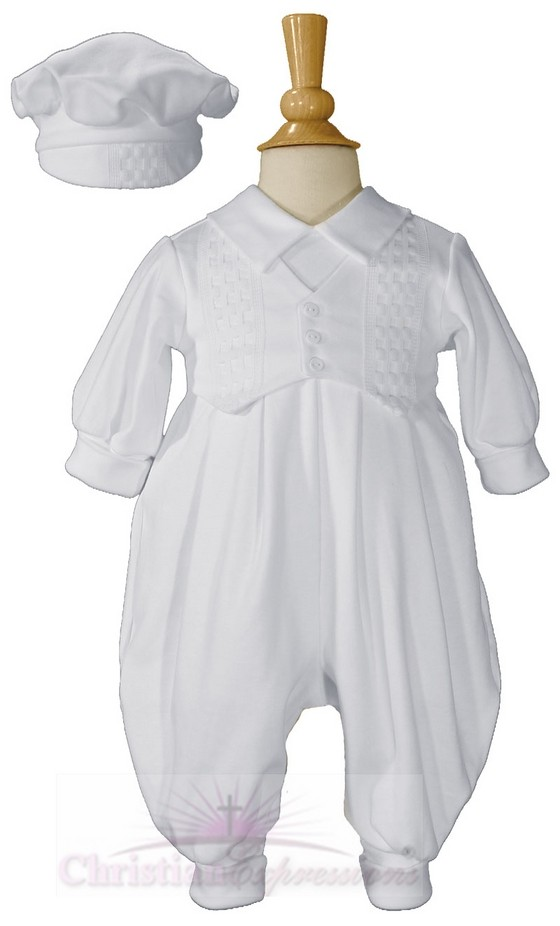 Long White Boys Celebration Set with Hat