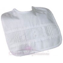 Boys Cotton Pintucked Christening Bib