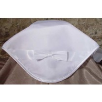 Girls Organza Satin Christening Blanket With Bow