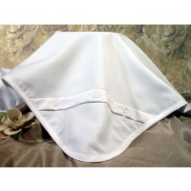 Boys Gabardine Christening Blanket with Buttons