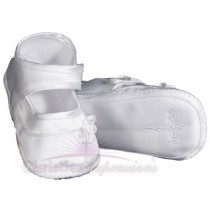 Girls Irish Christening Shoes with Celtic Cross