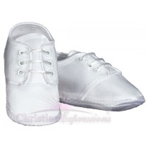 Boys Satin Christening Shoes