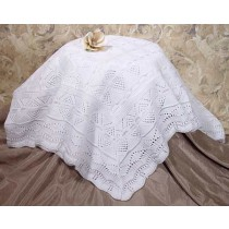Knit Baby Christening Shawl