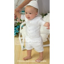 Short Sleeve Christening Outfits for Infants