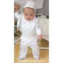 Boys Satin Christening Tuxedo Suit