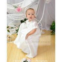 Girls and Boys (unisex) Silk Christening Gown Style Jamie