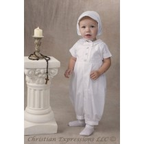 Cotton Christening Rompers for Boys