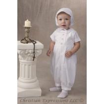 Boys Christening Romper Style Garvin