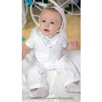 Irish Baptism Suits with Shamrocks for Infants