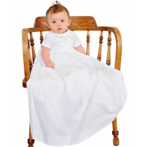 Boys Combed Cotton Christening Gown