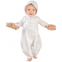 Boys Cotton Christening Coverall Set