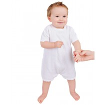 Boys One Piece Combed Cotton Christening Romper