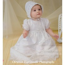 Beaded Baptism Gowns for Girls
