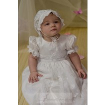 Silk Embroidered Christening Gowns