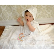 Girls Cotton Christening Gown Style Kelly