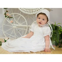 Girls Cotton Christening Gown Style Marie