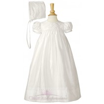Girls Silk Dupioni Christening Dresses