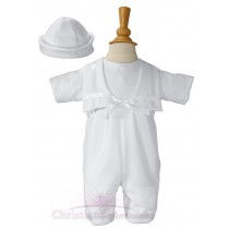 Boys Nautical Gabardine Irish Shamrock Christening Outfit