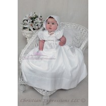 Long Cotton Irish Shamrock Baptism Gowns for Infants