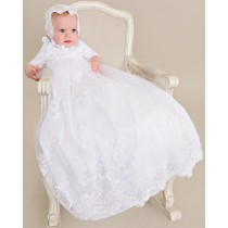 Lace Christening Gown with Sleeves