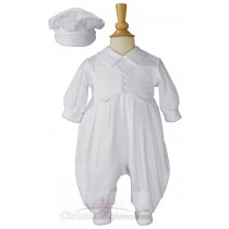 Boys Long Sleeve Baptism Romper