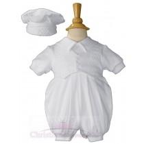 Boys Short Sleeve Baptism Romper