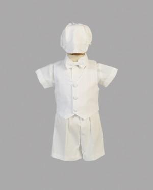 Boys Baptismal Shorts and Vest Set