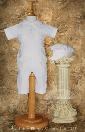 Baptism Rompers for Baby Boys
